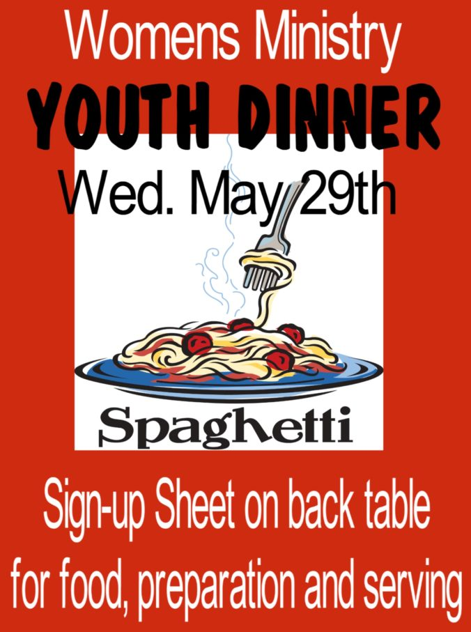 Flyer for Youth Dinner