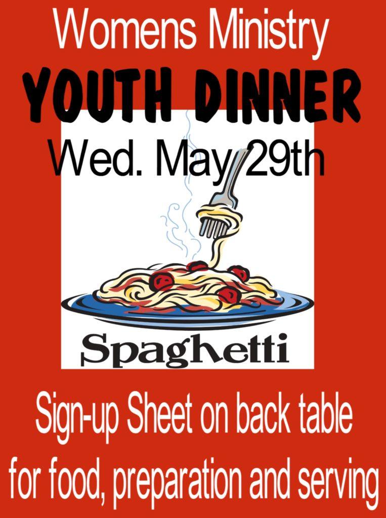 Flyer for Youth Dinner
